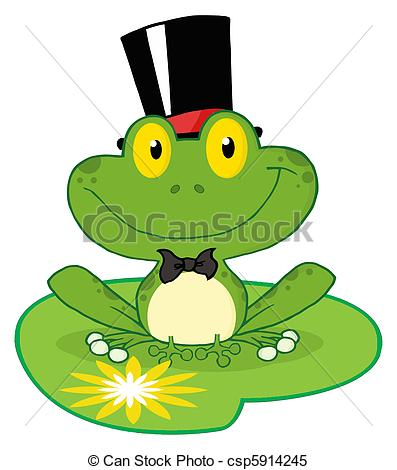 Frog On Lily Pad Drawing | Clipart Panda - Free Clipart Images