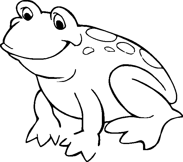 Frog On Lily Pad Coloring Page