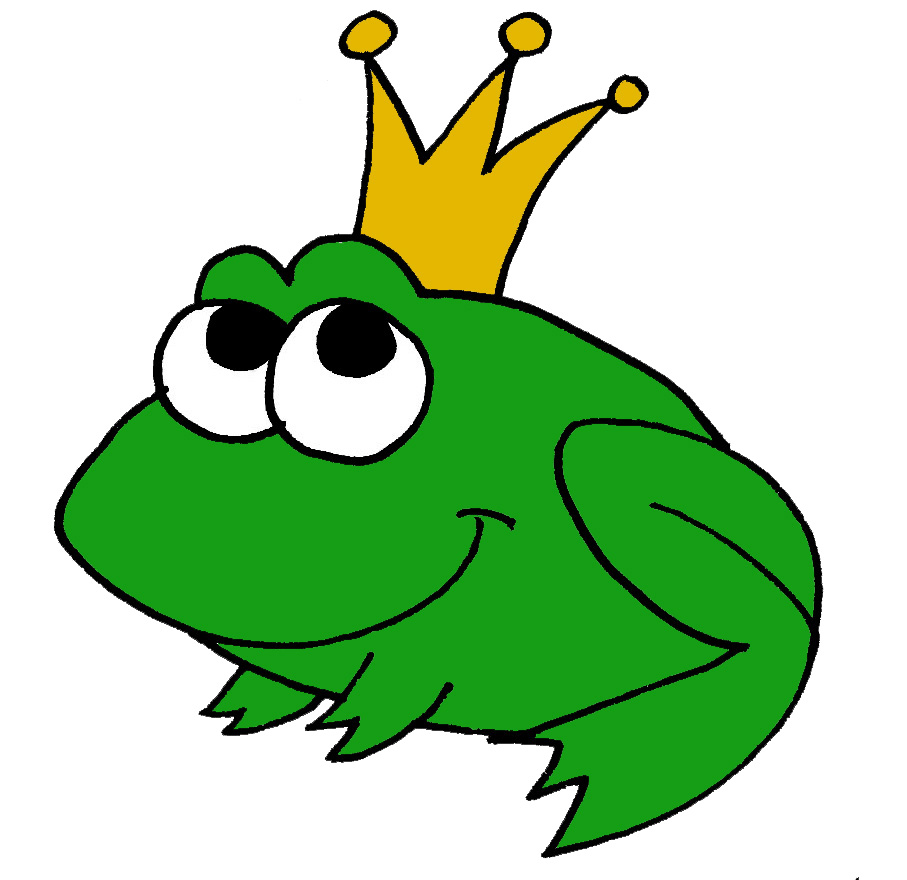 Frog Cartoon Coloring Pages