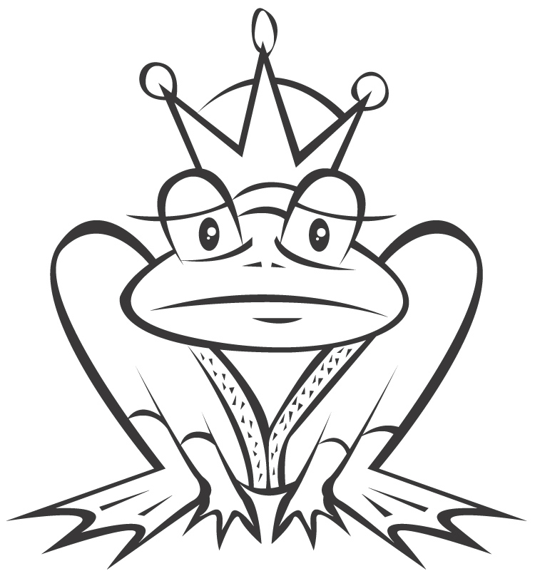 Frog Prince Coloring Pages | Clipart Panda - Free Clipart ...