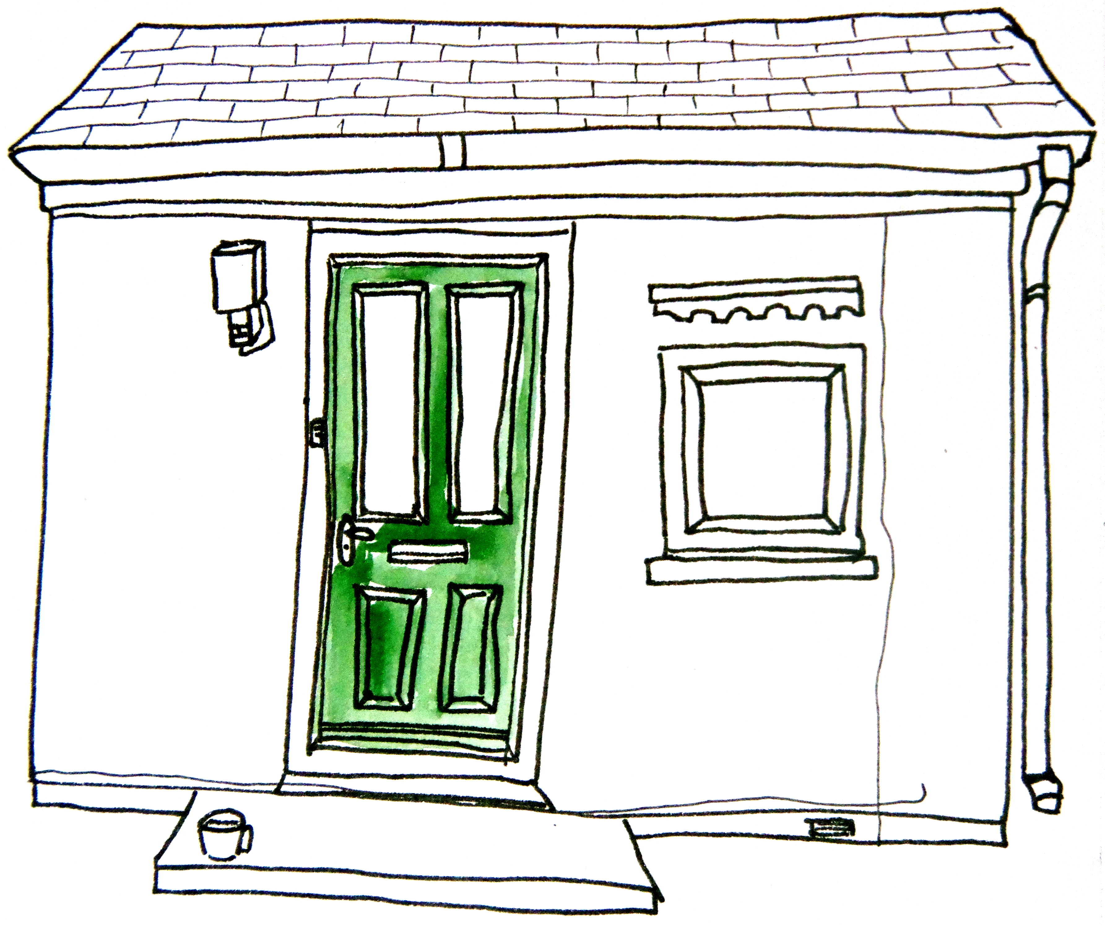Simple door drawing - Front Door Drawing Front Door Drawing Clipart Panda Free Clipart Images