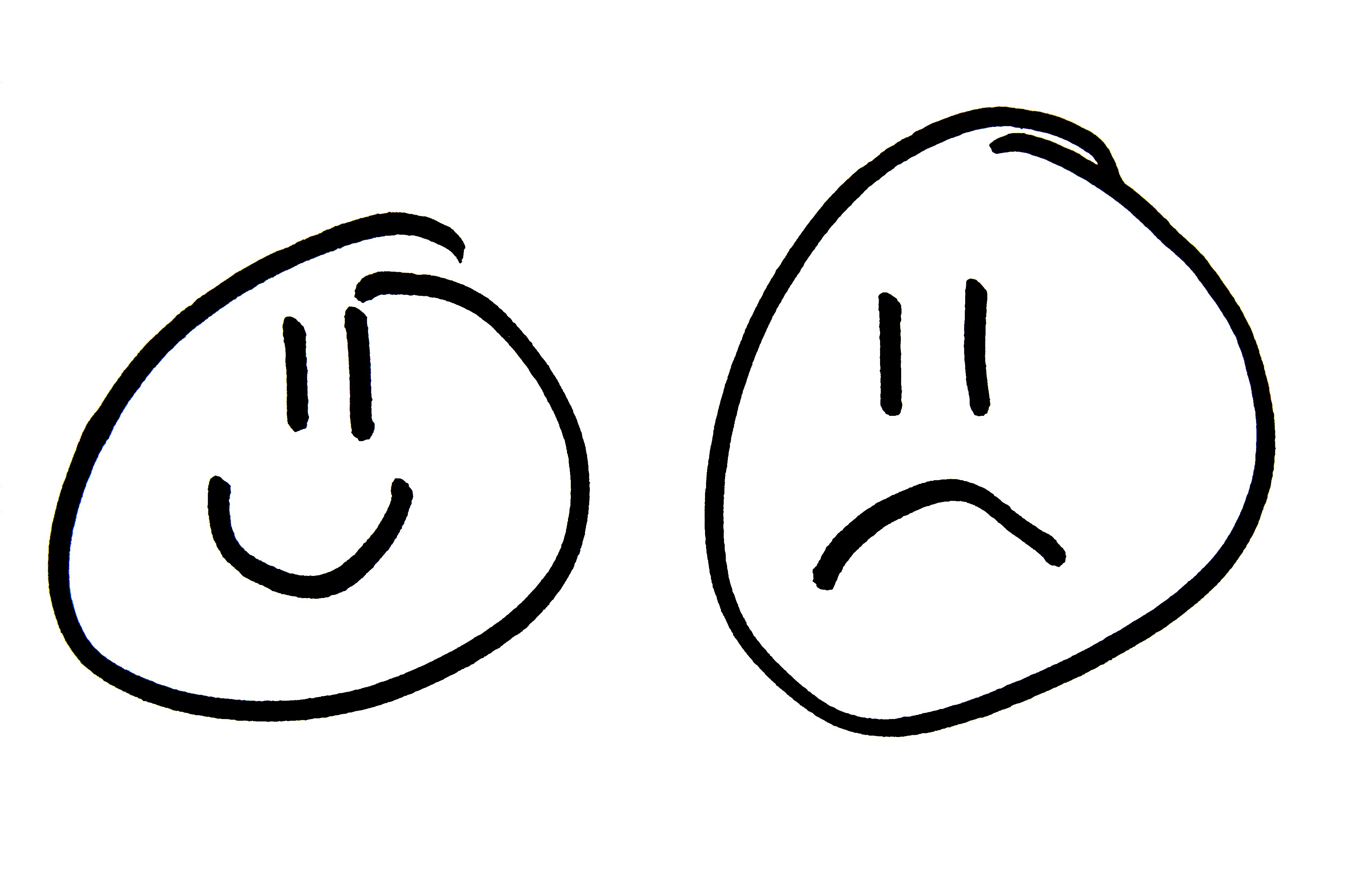 how to draw a frowning mouth