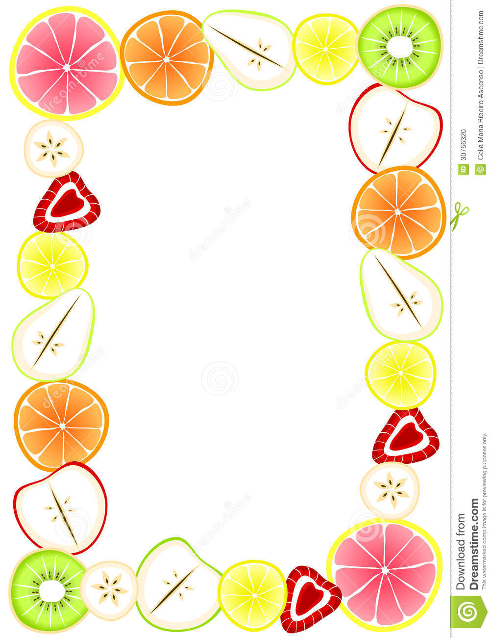 fruit and vegetable border clipart panda free clipart images