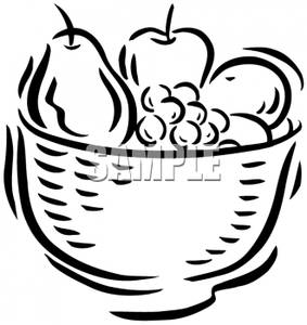 fruit%20and%20vegetable%20clipart%20black%20and%20white