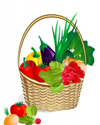 Fruits And Vegetables Basket Clipart | Clipart Panda ...