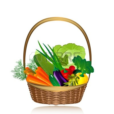 Fruit And Vegetables Basket | Clipart Panda - Free Clipart Images