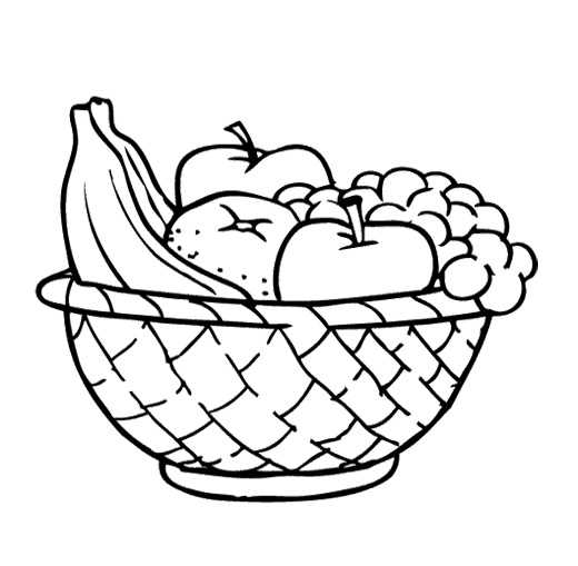 Pencil Of Fruit Basket Coloring Pages Fruits Basket Coloring Pages