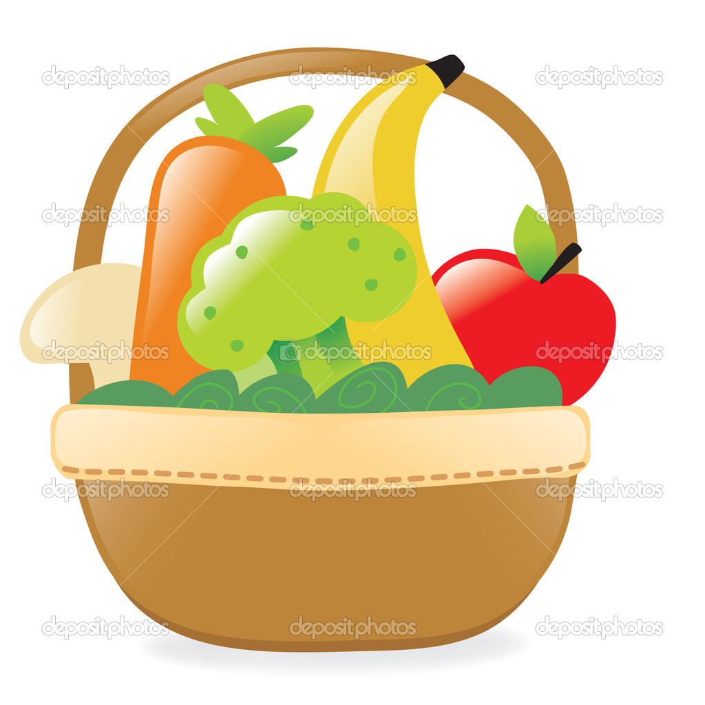Fruit And Vegetables Basket | Clipart Panda - Free Clipart ...
