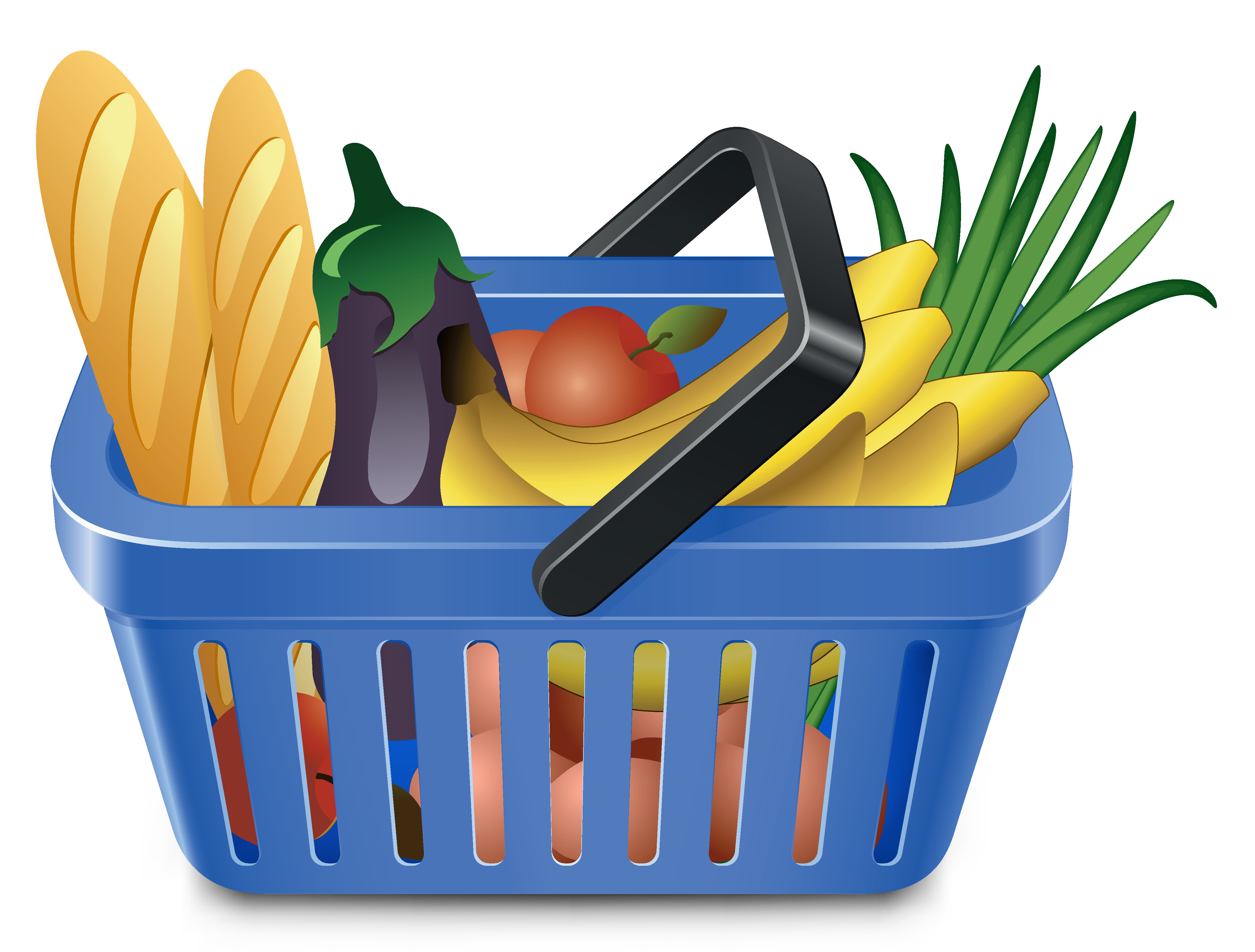 Vector Clipart Shopping Basket : Basket of vegetables clipart panda free