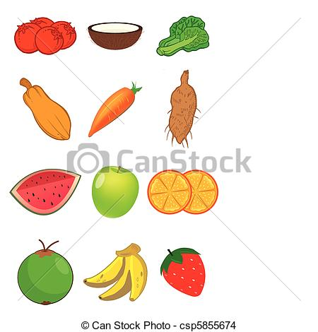 Fruit And Vegetables Drawings | Clipart Panda - Free ...