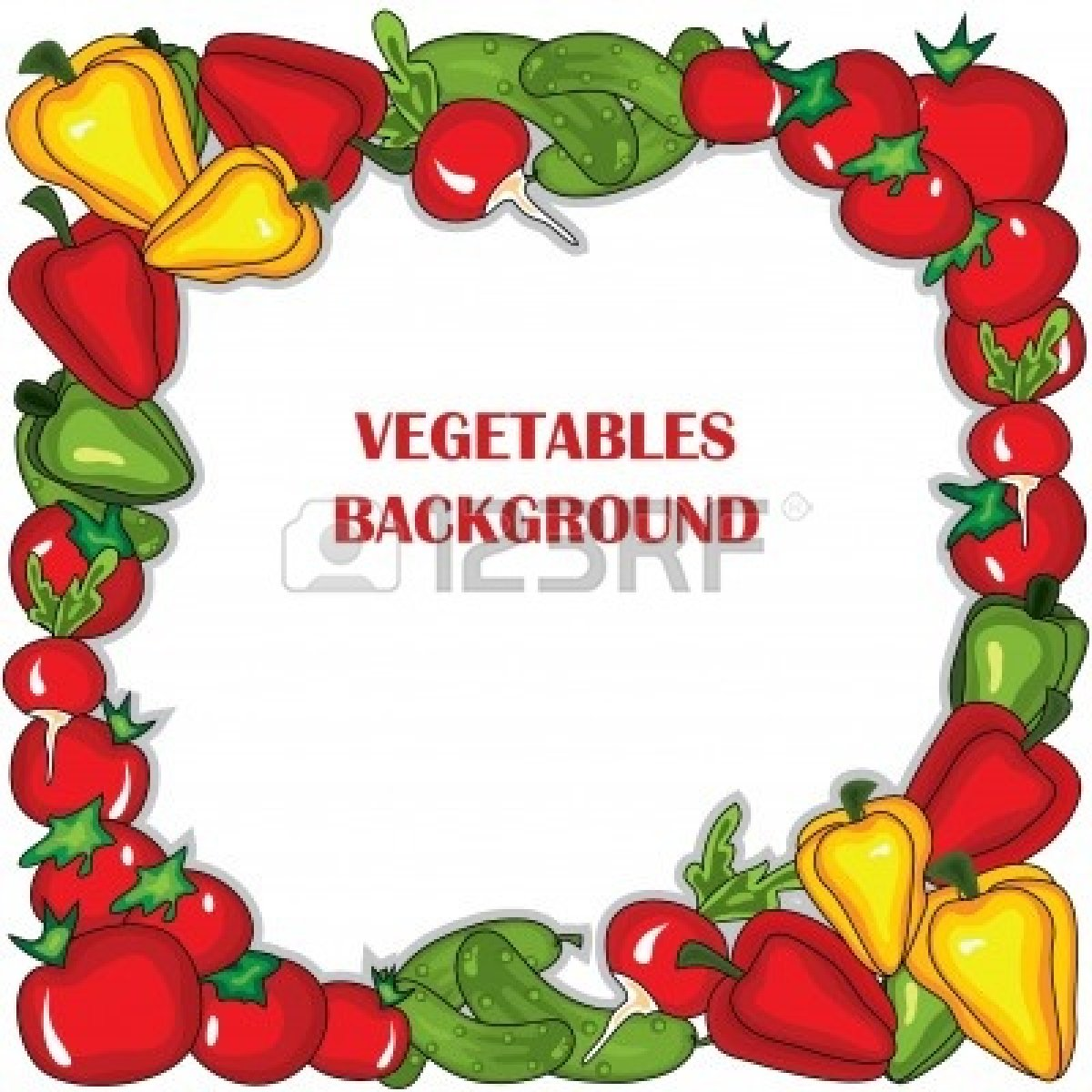Fruit Vegetables Clip Art Vegetable Borders Clip-art