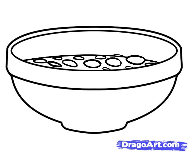 Fruit Bowl Line Drawing Fruit Bowl Drawing With