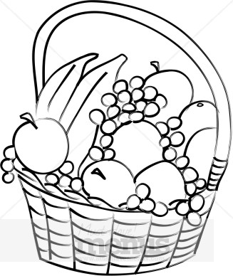 Fruit Clip Art Black And White