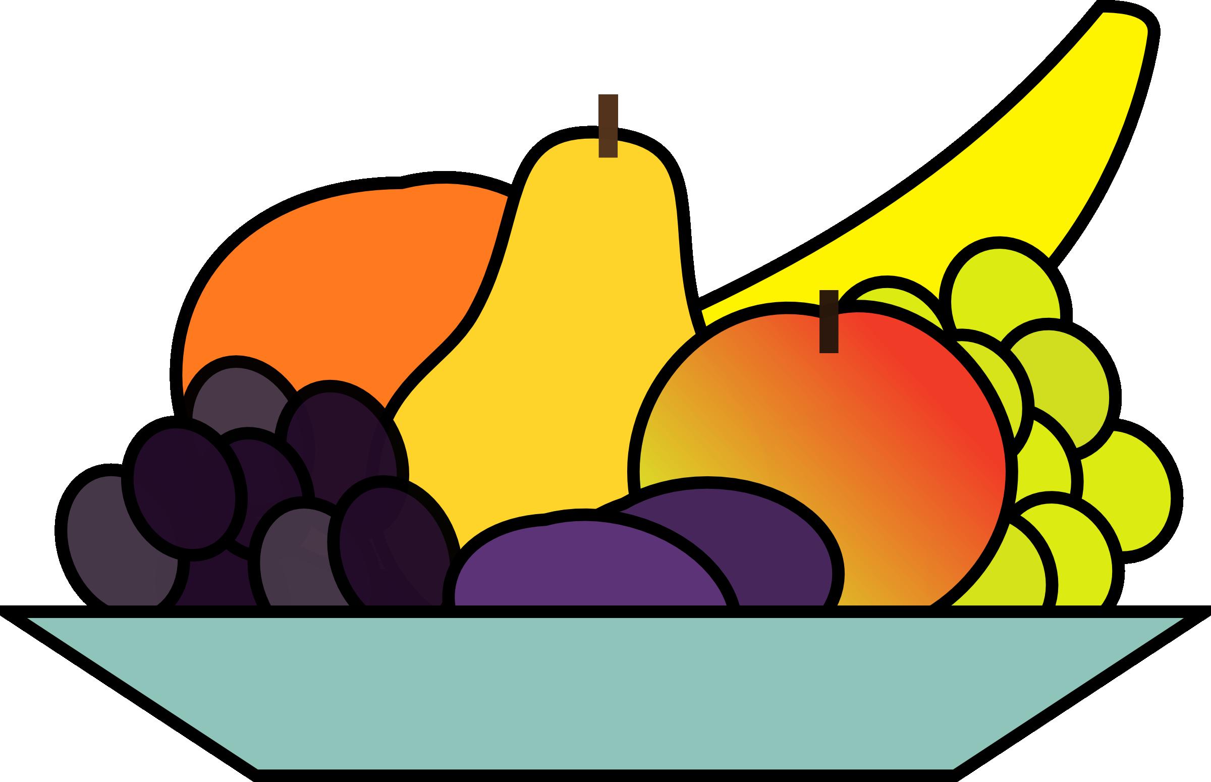 Fruit Plate Clipart | Clipart Panda - 181.4KB