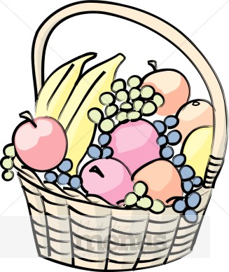 fruit basket clip art clipart panda free clipart images rh clipartpanda com fruit basket clipart outline empty fruit basket clipart black and white