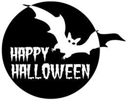 Happy Halloween Clip Art Black And White | Clipart Panda - Free ...