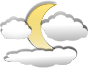 Full Moon With Clouds Clipart Clipart Panda Free