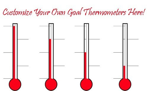 image about Goal Thermometer Printable identify Fundraising Thermometer Printable Clipart Panda - Totally free
