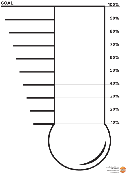 photograph regarding Printable Thermometer Goal Chart identified as Fundraising Thermometer Printable Clipart Panda - Free of charge