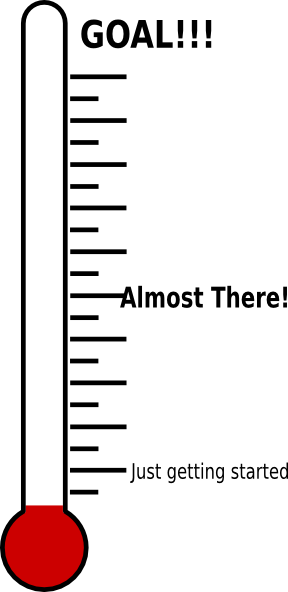 photo relating to Printable Goal Thermometer named Fundraising Thermometer Printable Clipart Panda - Cost-free