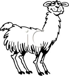 Llama Clipart Black And White Fur 20clipart | Clipar...