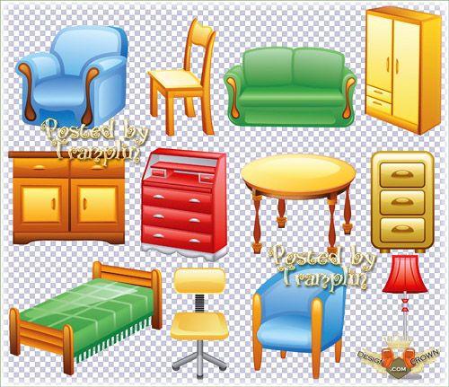 Furniture Clip Art: Furniture Clip Art Black White