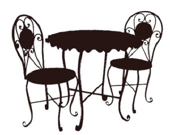 Cafe Table And Chairs Clipart Panda Free Images