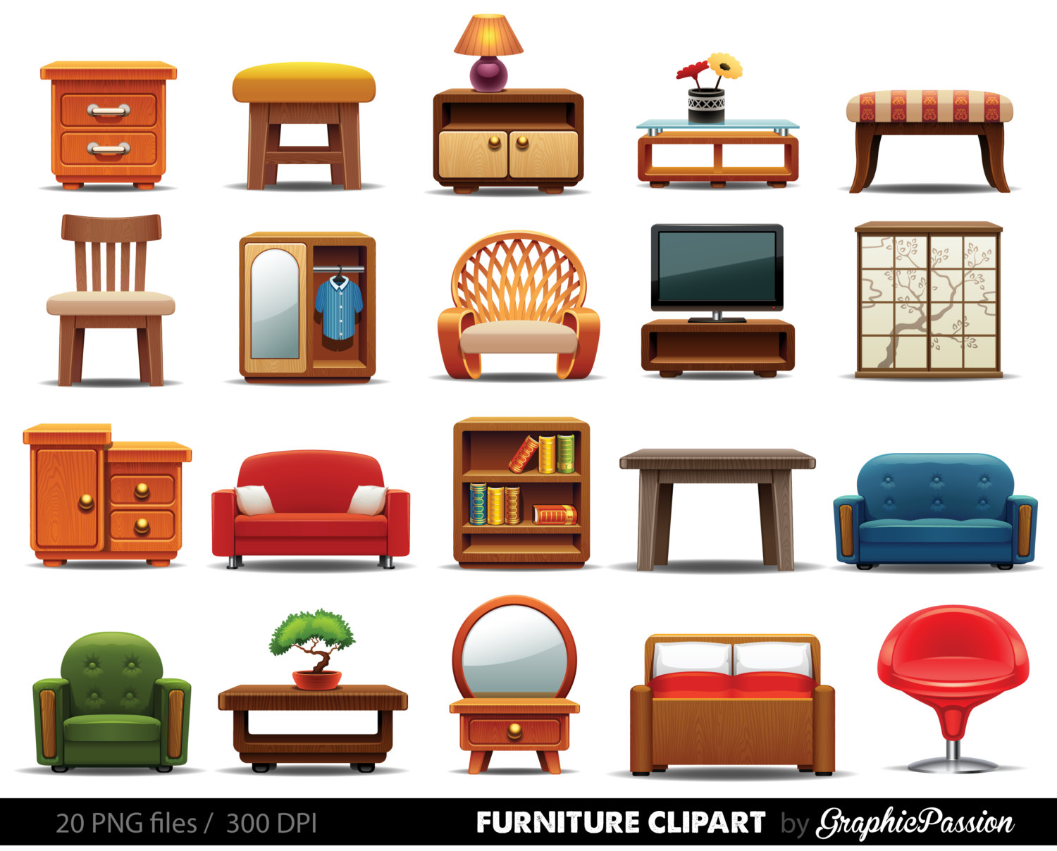 Furniture clipart clipart panda free clipart images for Minimalist household items