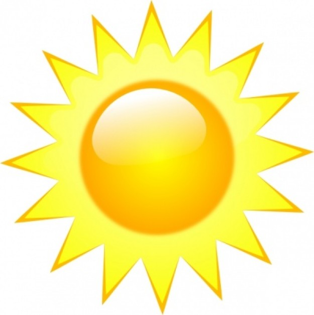 Half Sun Clipart on Weather Forecast Symbols