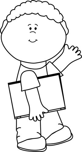 Coloring Page Black Kid Waving