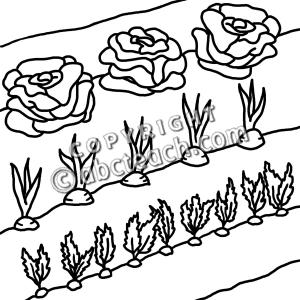 Clip Art Black And White Garden Clipart