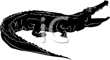 Crocodile Mouth Silhouette | Clipart Panda - Free Clipart ...