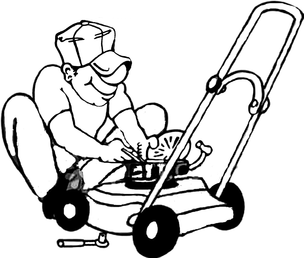 Lawn Mower Clipart Black And White on cub cadet zero turn mowers parts