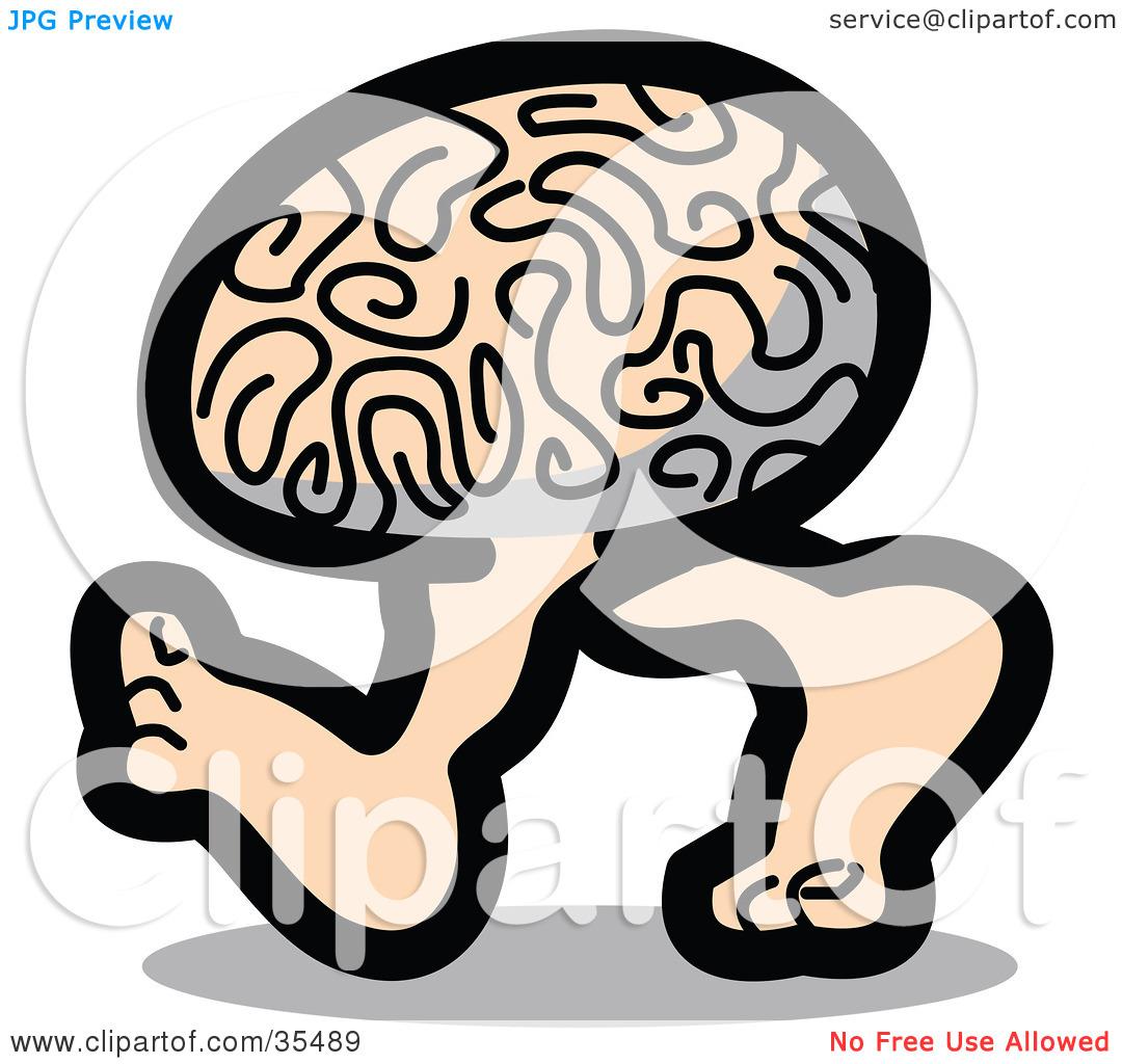 Clipart Panda Brain