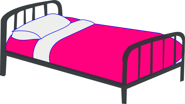 Man Getting Into Bed Clipart