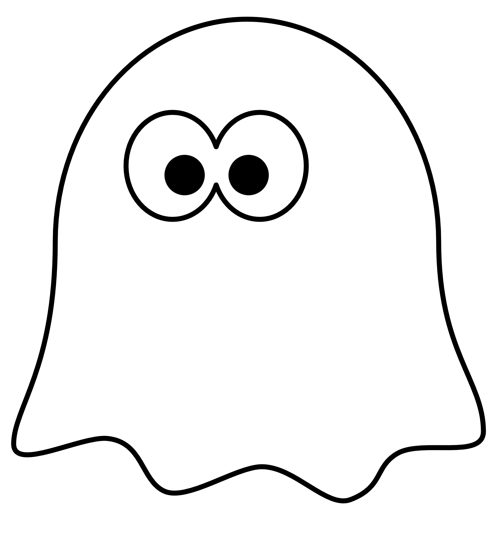 Ghost Outline Clip Art