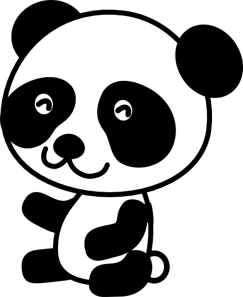 panda clipart black and white clipart panda free free panda clipart for colored background free panda clipart cute