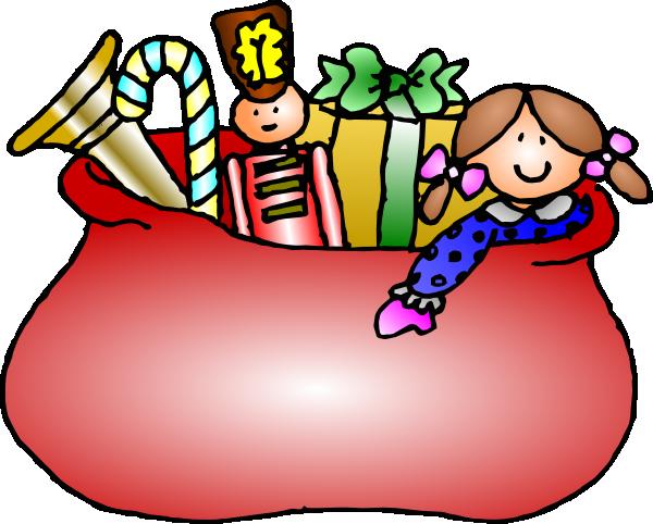 Santa S Bag Of Toys : Gift bag clipart black and white panda free