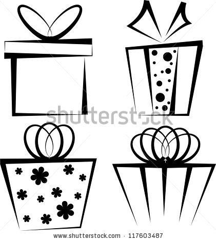 Gift Black And White | Clipart Panda - Free Clipart Images