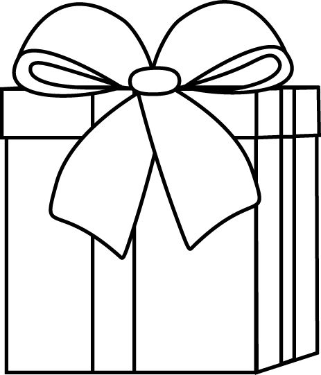 Birthday Present Clipart Black And White | Clipart Panda ...