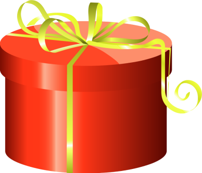 Red cylinder gift box with clipart panda free clipart images clipart info negle Choice Image