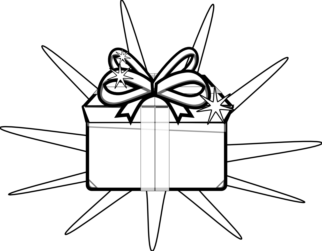 Gift Tag Clipart Black And White | Clipart Panda - Free ...