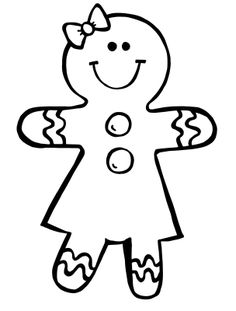 Free Printable Gingerbread Man Clipart