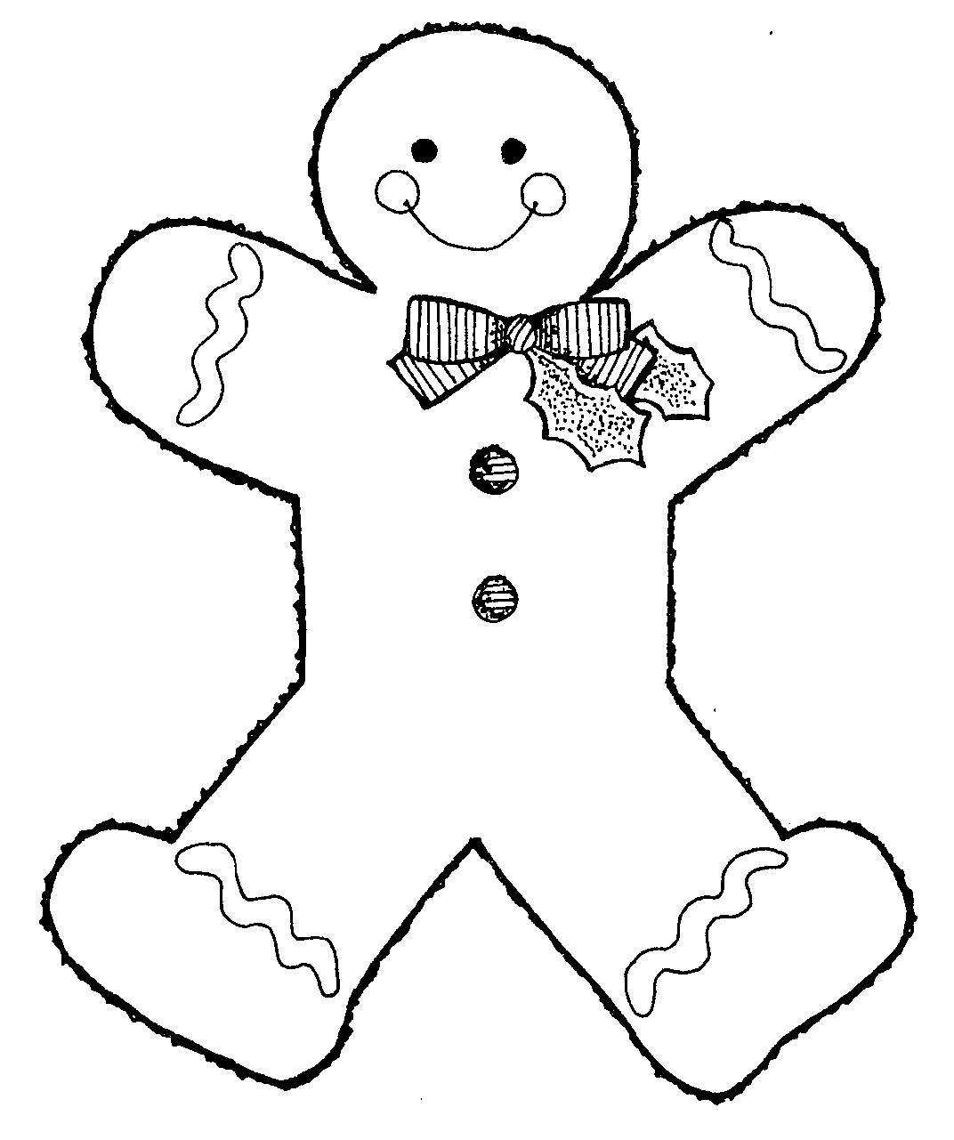 Gingerbread Clip Art Black And White | Clipart Panda Free Clipart ...