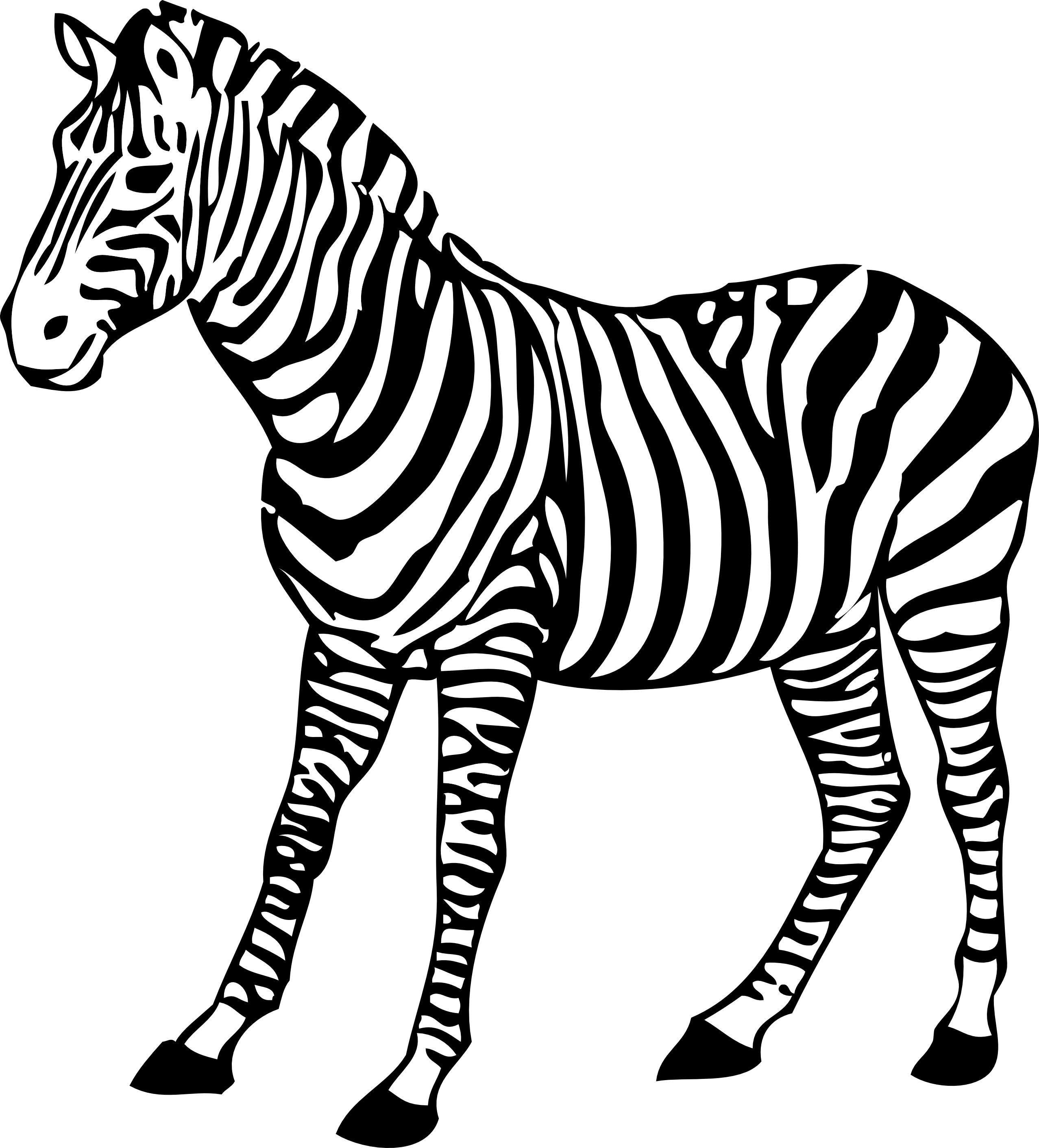 Giraffe clipart black and white clipart panda free for Free zebra coloring pages