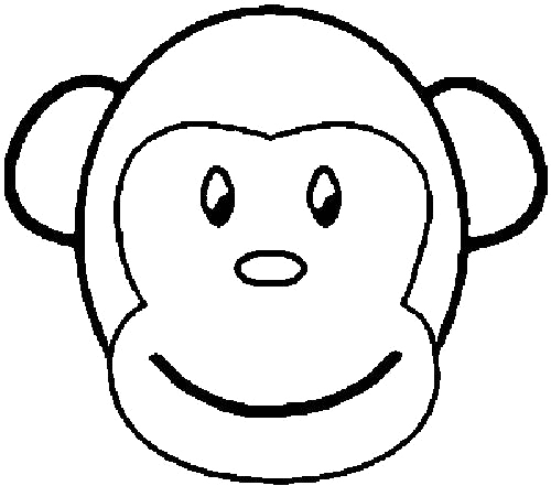 Sock monkey family coloring pages coloring pages for Sock monkey face template