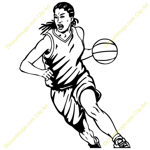 ... Basketball Player Clipart Shooting girl basketball player clipart