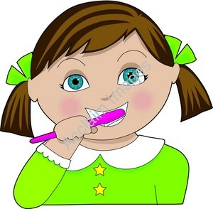 Girl Brushing Teeth Clipart | Clipart Panda - Free Clipart ...