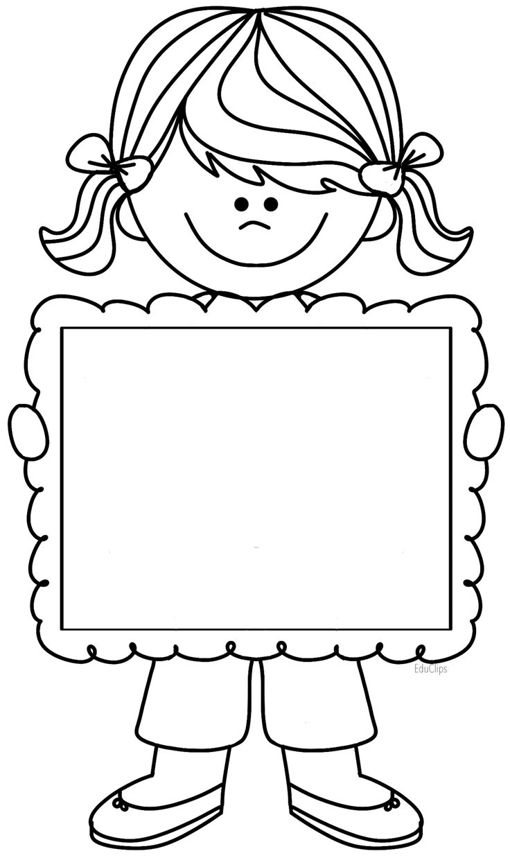girl clip art black and white