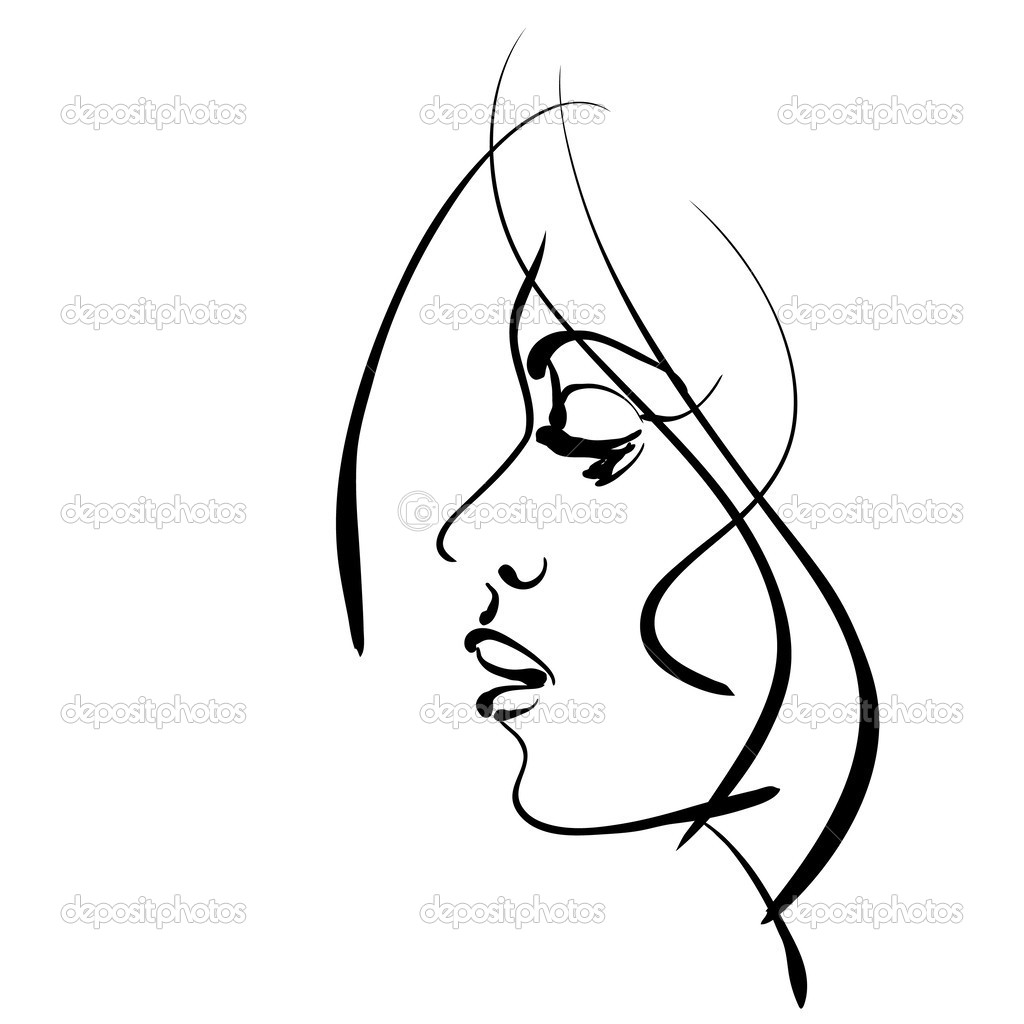 Line Drawing Face Woman : Line drawing of face pictures to pin on pinterest daddy